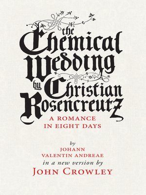 cover image of The Chemical Wedding, by Christian Rosencreutz