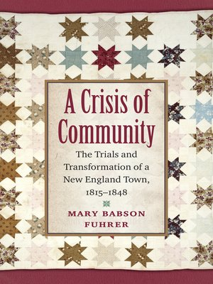 cover image of A Crisis of Community