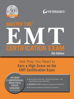 cover image of Master the EMT Certification Exam