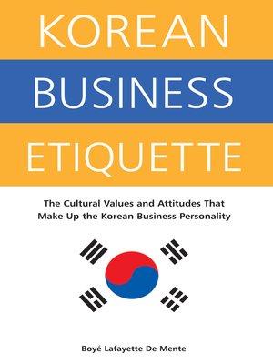cover image of Korean Business Etiquette