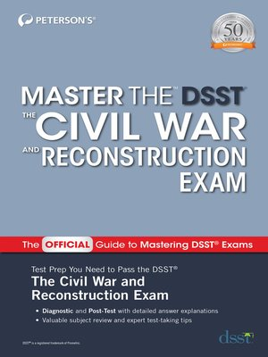 cover image of Master the DSST the Civil War and Reconstruction Exam