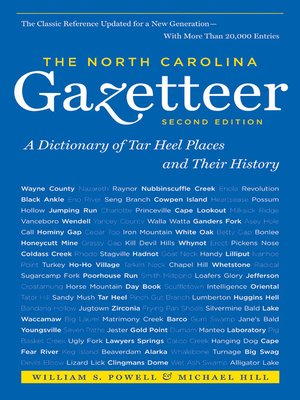 cover image of The North Carolina Gazetteer, 2nd Ed