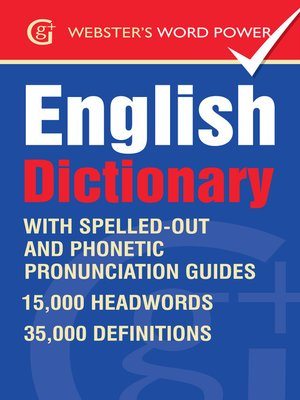 cover image of Webster's Word Power English Dictionary
