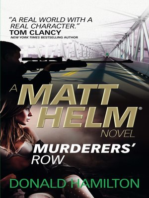 cover image of Murderer's Row