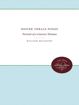 cover image of Hester Thrale Piozzi