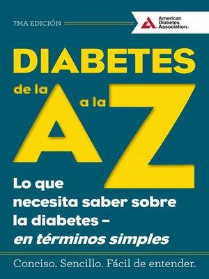 cover image of Diabetes de la a a la Z (Diabetes a to Z)