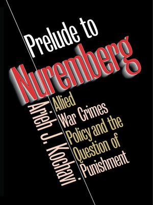 cover image of Prelude to Nuremberg