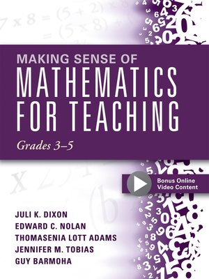 cover image of Making Sense of Mathematics for Teaching Grades 3-5