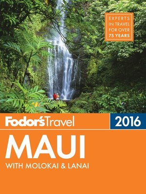cover image of Fodor's Maui 2016