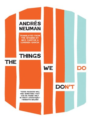 cover image of The Things We Don't Do