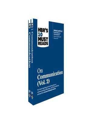 cover image of HBR's 10 Must Reads on Communication 2-Volume Collection
