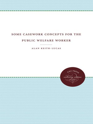cover image of Some Casework Concepts for the Public Welfare Worker
