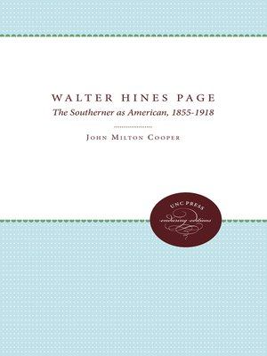 cover image of Walter Hines Page