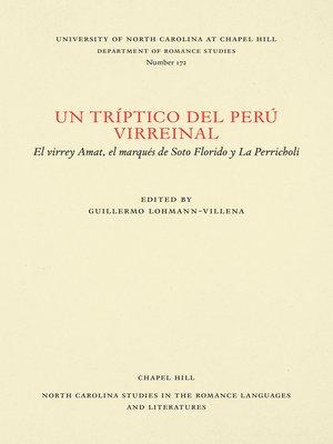 cover image of Un tríptico del Perú virreinal
