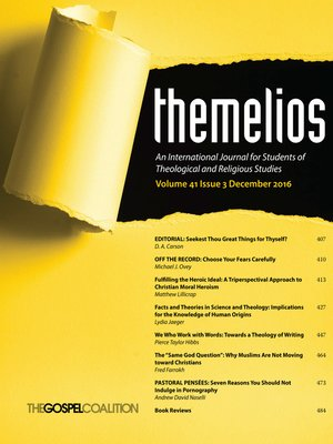cover image of Themelios, Volume 41, Issue 3