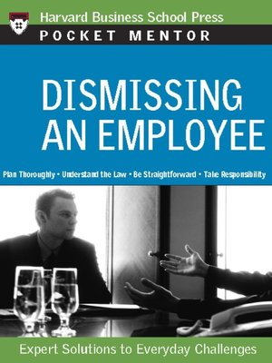 cover image of Dismissing an Employee