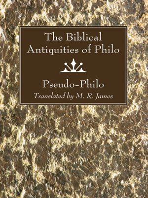 cover image of The Biblical Antiquities of Philo