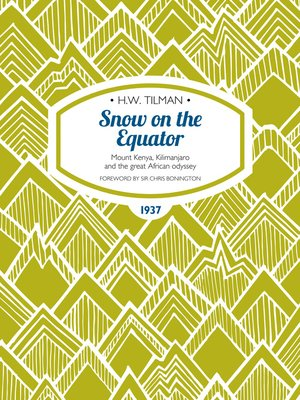 cover image of Snow on the Equator