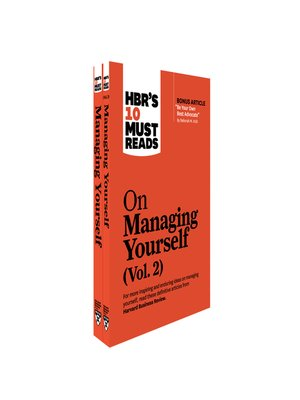 cover image of HBR's 10 Must Reads on Managing Yourself 2-Volume Collection