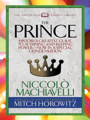 cover image of The Prince (Condensed Classics)