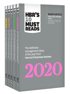 cover image of 5 Years of Must Reads from HBR