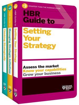 cover image of HBR Guides to Building Your Strategic Skills Collection (3 Books)