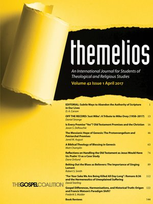 cover image of Themelios, Volume 42, Issue 1