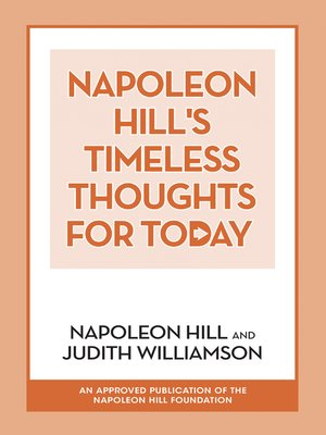 cover image of Napoleon Hill's Timeless Thoughts for Today