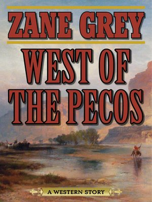 Cover Image Of West The Pecos