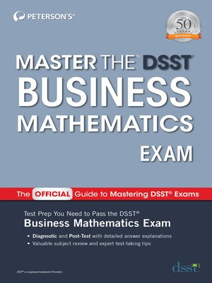 cover image of Master the DSST Business Mathematics Exam