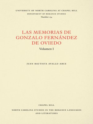 cover image of Las Memorias de Gonzalo Fernández de Oviedo