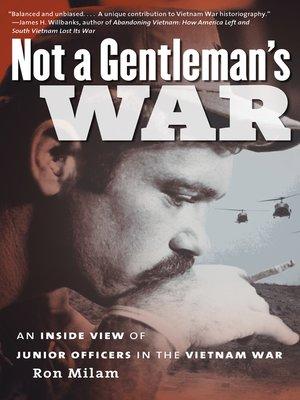 cover image of Not a Gentleman's War