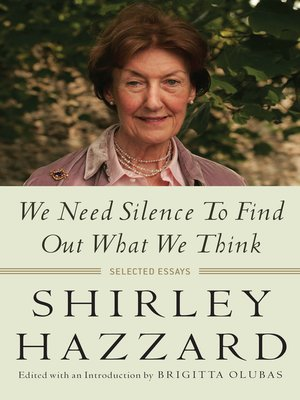 cover image of We Need Silence to Find Out What We Think