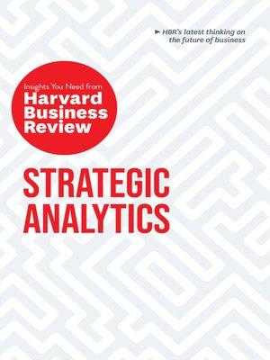 cover image of Strategic Analytics
