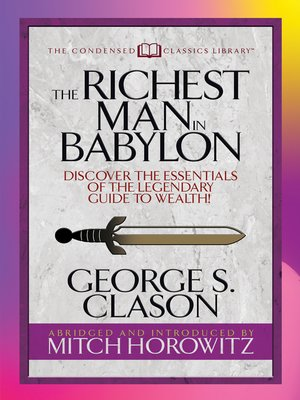cover image of The Richest Man in Babylon (Condensed Classics)