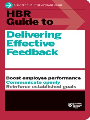 cover image of HBR Guide to Delivering Effective Feedback (HBR Guide Series)