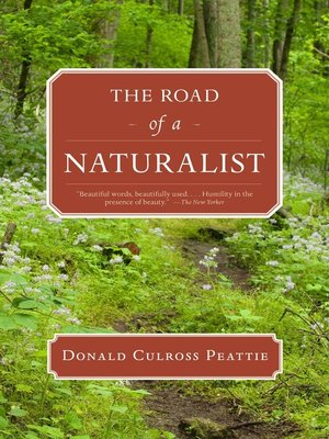 cover image of The Road of a Naturalist