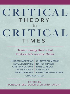 cover image of Critical Theory in Critical Times