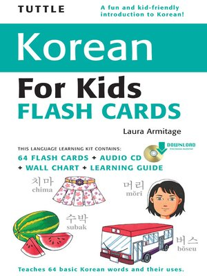 cover image of Tuttle Korean for Kids Flash Cards Kit