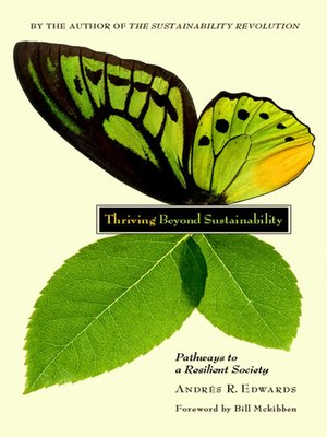 cover image of Thriving Beyond Sustainability