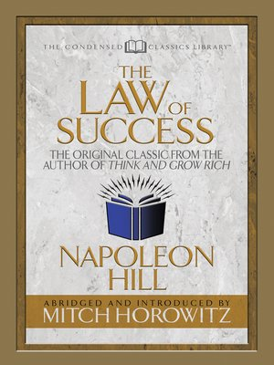 cover image of The Law of Success (Condensed Classics)