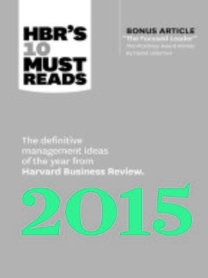 cover image of HBR's 10 Must Reads 2015