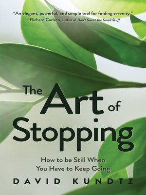 cover image of The Art of Stopping