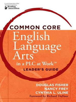 cover image of Common Core English Language Arts in a PLC at Work®, Leader's Guide