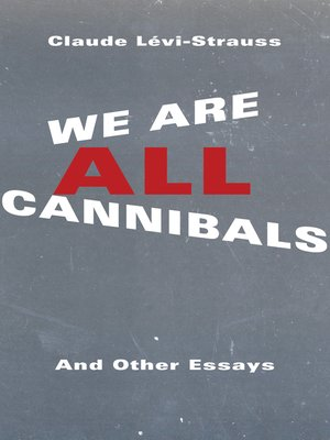 cover image of We Are All Cannibals