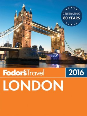 cover image of Fodor's London 2016