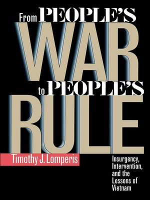 cover image of From People's War to People's Rule