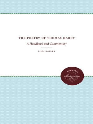 cover image of The Poetry of Thomas Hardy