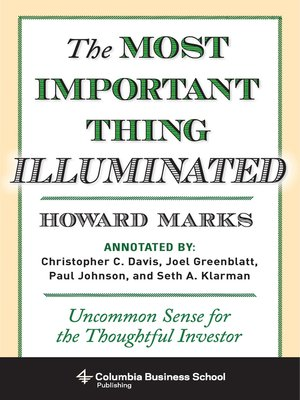 cover image of The Most Important Thing Illuminated