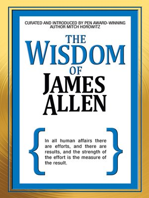 cover image of The Wisdom of James Allen